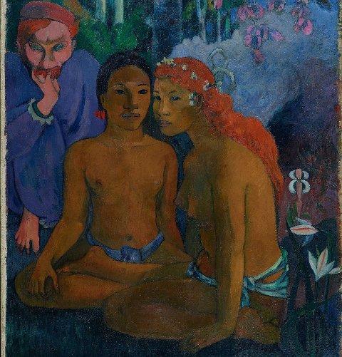 Paul Gauguins maleri Conte barbares fra 1902 vises nå i The National Gallery i London.