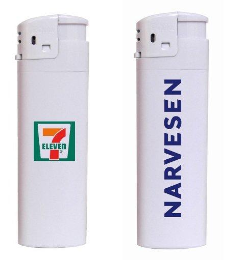 Narvesen og 7-Eleven tilbakekaller lightere fra produsenten Sia Vengo etter melding fra en kunde om en slik lighter hadde eksplodert. Foto: Reitangruppen / NTB scanpix