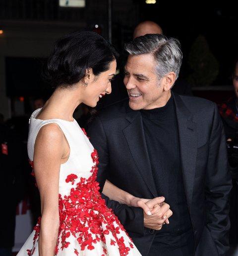 VAKKERT PAR: Amal og George Clooney på den røde løperen.