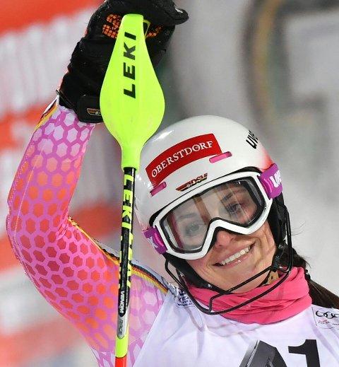 TØFF DAME: Christina Geiger regnes blant verdenseliten i slalåm og har gjort det sterkt i en rekke konkurranser. Hun kjørte inn til en åttende plass i verdenscupen i Flachau i januar.
