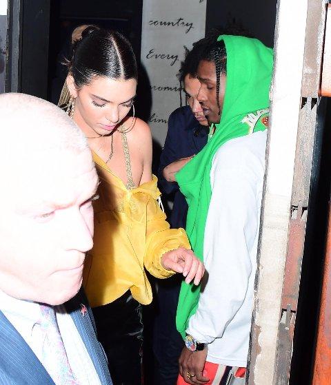 Det ble ganske hot mellom Kendall Jenner og A$AP Rocky under MET-gallaen natt til tirsdag, noe som ble ordentlig dokumentert på Snapchat. Bildet er fra en annen anledning.