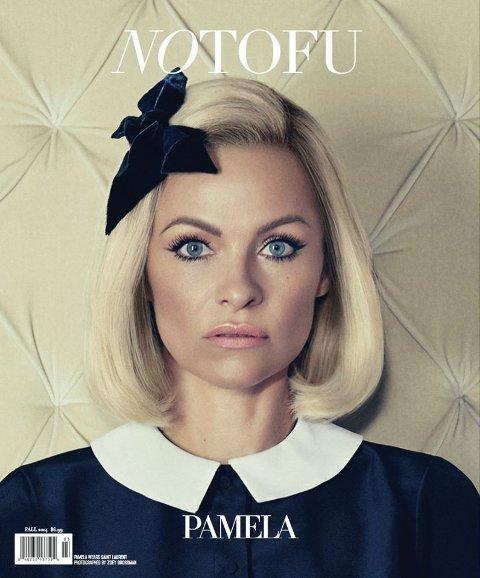OVERRASKER: Pamela Anderson pryder coveret til høstutgaven utgitt av magasinet «Notufu».