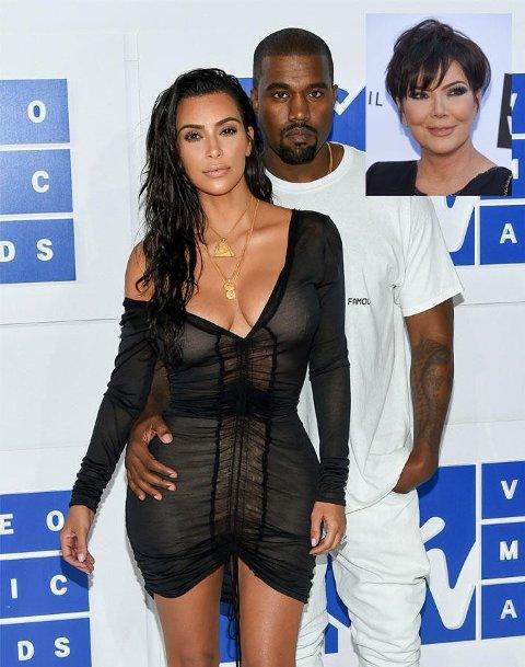 Kilder melder at Kardashian-klanen er svært bekymret for Kanye West.