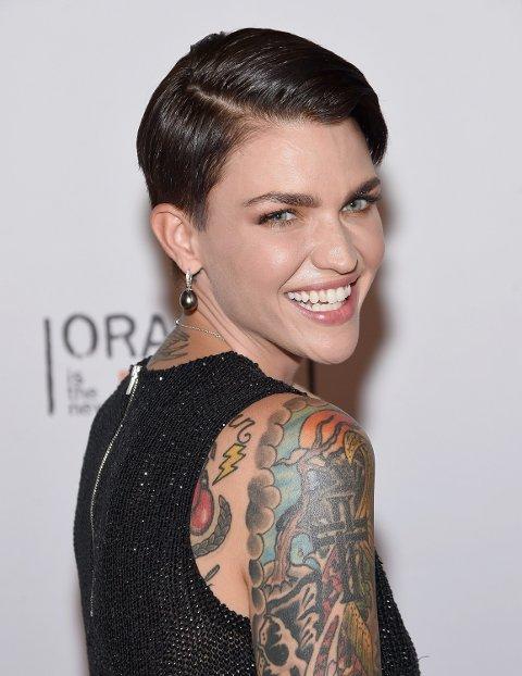 RUBY ROSE har mange tatoveringer, flere av dem på de stedene som skal være mest smertefulle.