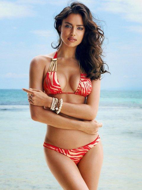 DAMA TIL: Den russiske supermodellen Irina Shayks er dama til Portugals stjernespiller Cristiano Ronaldo.
