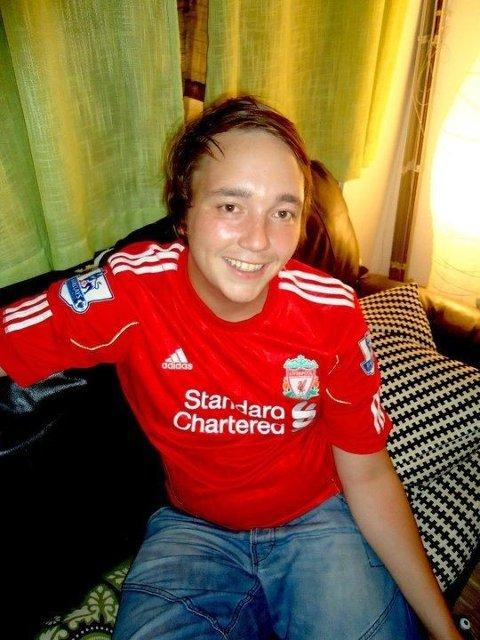DEDIKERT: Axel With Gogstad-Anfield er Liverpool-supporter på sin hals. Det fikk ham til å forandre etternavn.