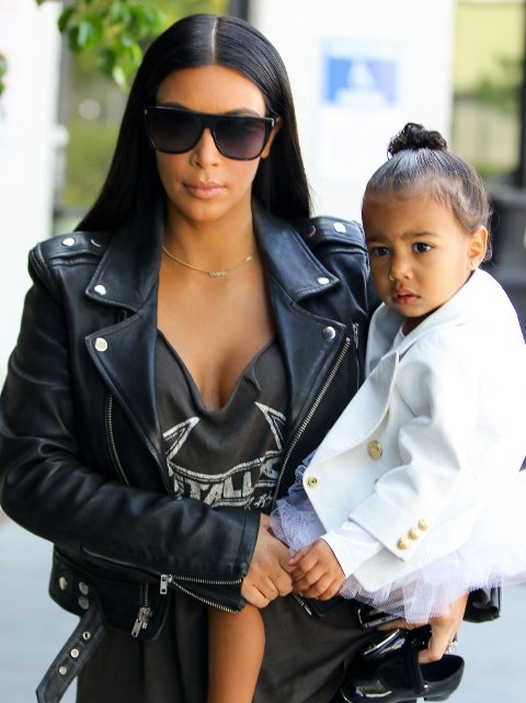 MOR OG DATTER: Snart blir Kim tobarnsmor, mens to år gamle North blir storesøster.