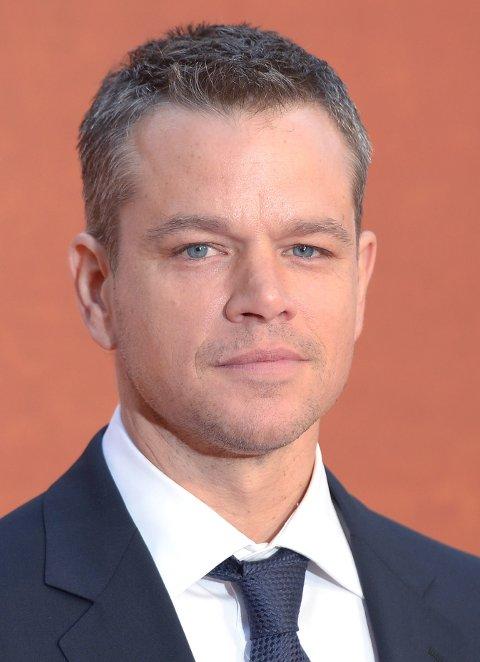 MATT DAMON: Skuespilleren har - i form av sine filmroller - kostet mye å redde.