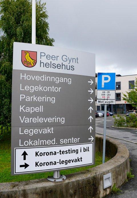 En eldre pasient ved Peer Gynt Helsehus er bekreftet død etter å ha blitt koronasmittet. Foto: Lise Åserud / NTB scanpix