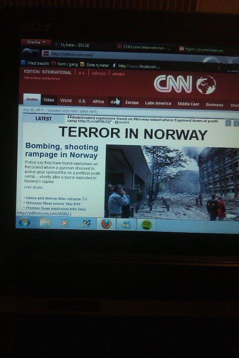 En helg i juli var Oslo, Utøya og Norge begrep i hele verden. Slik så en av de første sakene til CNN ut 22. juli.