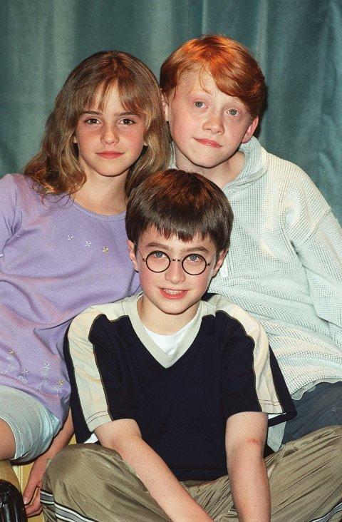 Slik husker vi disse <3 Emma Watson, Rupert Grint og Daniel Radcliffe.