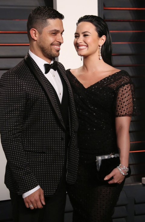 Wilmer Valderrama og Demi Lovato under Vanity Fair Oscar Party i 2016.