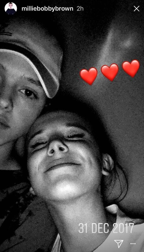 Millie Bobby Brown og Jacob Sartorius viser seg frem på Instagram Stories