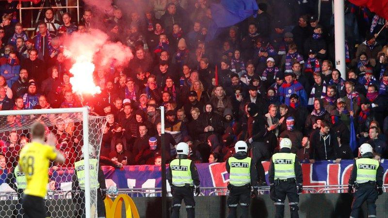 Lillestrøm 20191026. Det gikk hett for seg under kampen mellom Lillestrøm og Vålerenga. Lillestrøm møter hjemme på Åråsen lørdag.