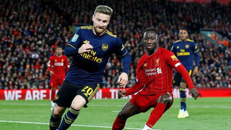 FÅR KRITIKK: Arsenal-forsvarer Skhodran Mustafi.