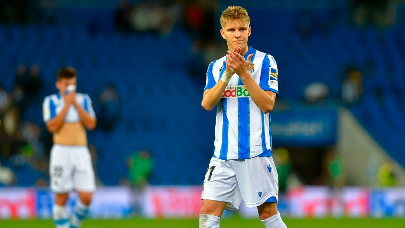 LA REAL: Martin Ødegaard spiller for øyeblikket for Real Sociedad i Spania.