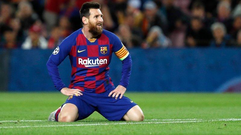 NESTEN: Lionel Messi kom nærmest for Barcelona, som fikk en vanskelig kveld mot Slavia Praha.