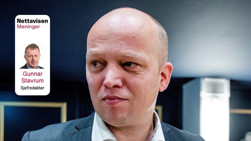 Partileder Trygve Slagsvold vedum i Senterpartiet. MedGunnar Stavrum i Vignett