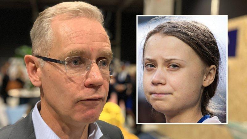 KOMMER MED LØFTE: SAS-sjef Rickard Gustafson lover Greta Thunberg at hun vil fly igjen.