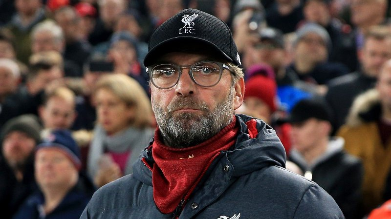 Liverpool manager Jurgen Klopp during the UEFA Champions League match at Anfield, Liverpool.