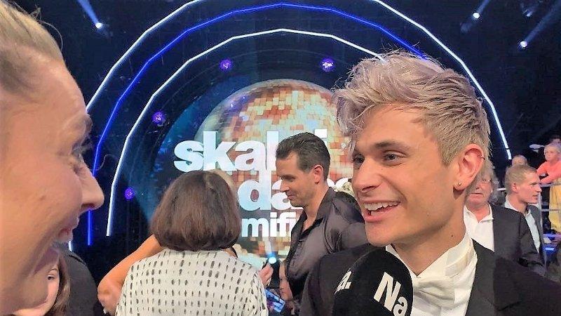 Nettavisen intervjuer Victor Sotberg i pausen i semifinalen.