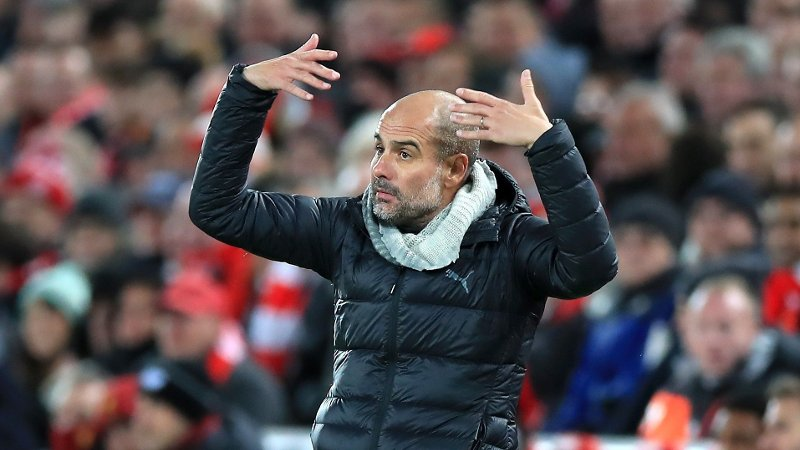 VAR RASENDE: Manchester City-manager Josep Guardiola.