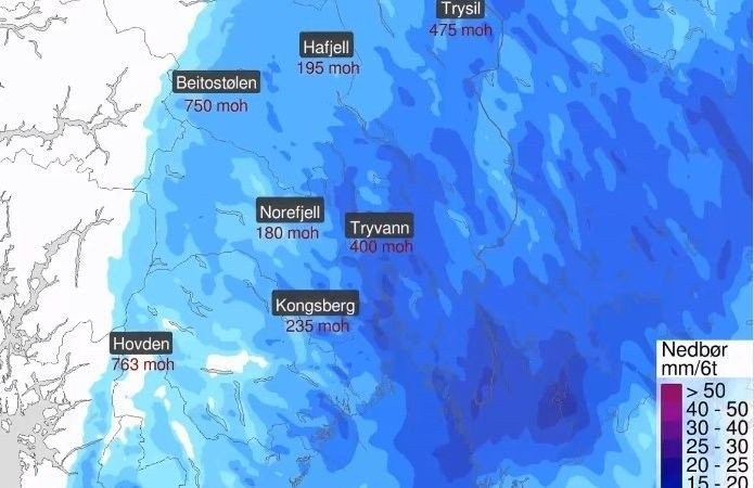 Meteorologene venter et lavtrykk med snø inn over Sør-Norge til helgen.