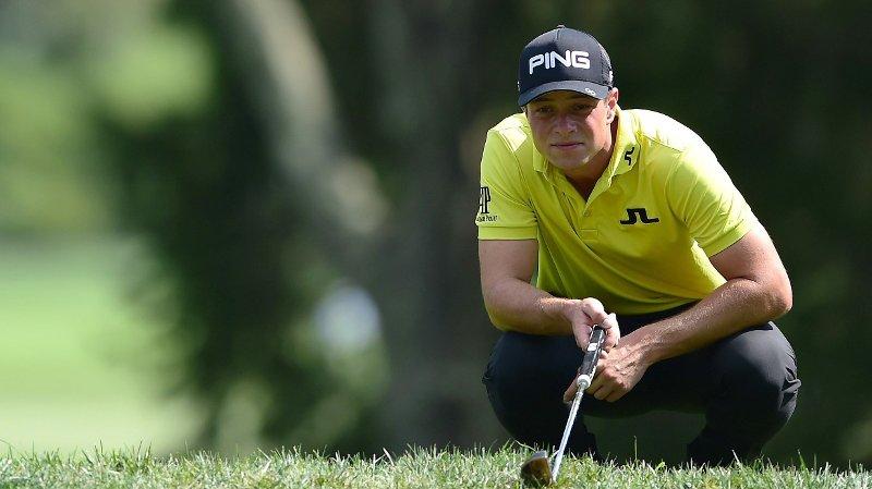 SKUFFENDE: Viktor Hovland måtte se langt etter videre deltakelse i Mayakoba Golf Classic etter en skuffende runde lørdag.