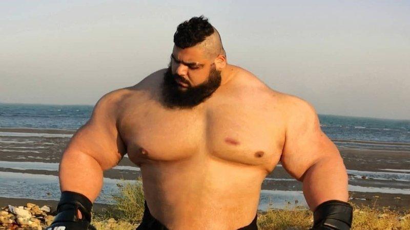 Kroppsbyggeren Sajad Gharibi, bedre kjent som «den iranske hulken».