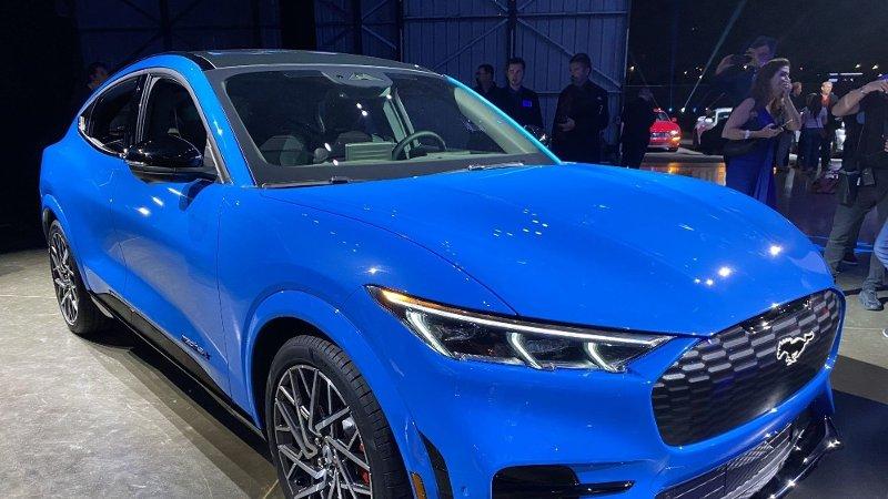Ford Mustang Mach-E ligger allerede an til å bli en solid salgssuksess i Norge. Her fra lanseringen i Los Angeles.