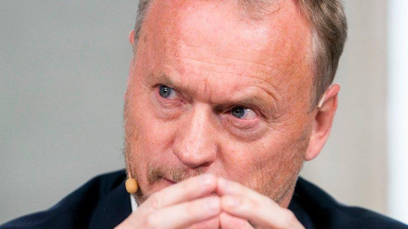 Oslo 20191022. Raymond Johansen fra Arbeiderpartiet under pressekonferansen om byrådsforhandlingene i Oslo.