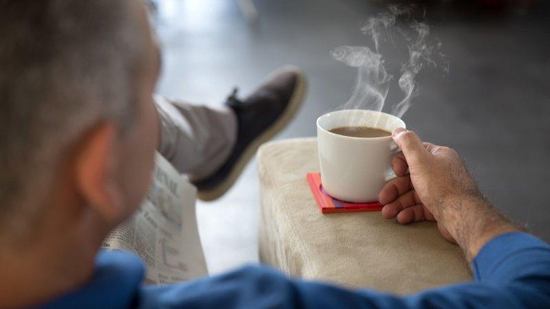 Bilde av kaffe og stol