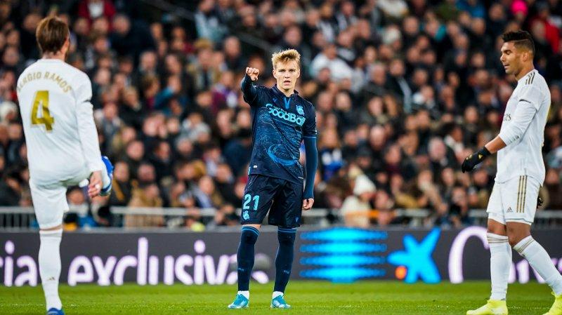TILBAKE: Martin Ødegaard returnerte lørdag til Santiago Bernabéu i Madrid for første gang siden Real Madrid-debuten fra start for tre år siden.