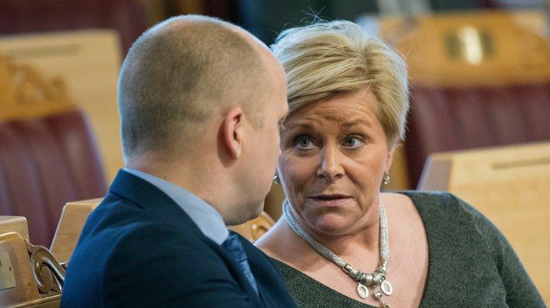 Partileder i Senterpartiet Trygve Slagsvold Vedum gjør det klart at et regjeringssamarbeid med Frp og Siv Jensen er uaktuelt.