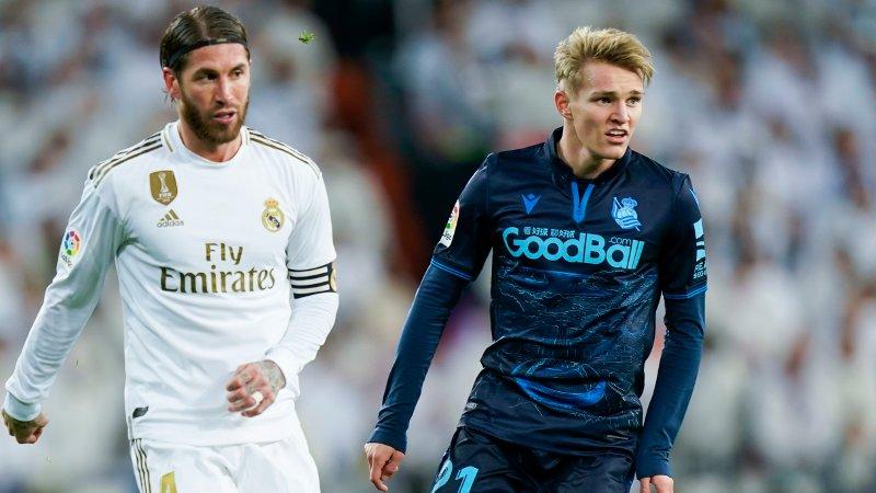 FORTIDEN OG FREMTIDEN? Sergio Ramos har vært en Real Madrid-profil i årevis. Nå kan Martin Ødegaard snart overta stafettpinnen.