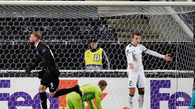 SCORET: Dominik Frieser jubler for 2-1-scoringen mot Rosenborg.