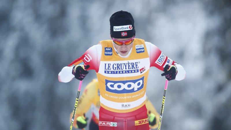 I FORM: Johannes Høsflot Klæbo leverte nok et sterkt renn i Ruka.