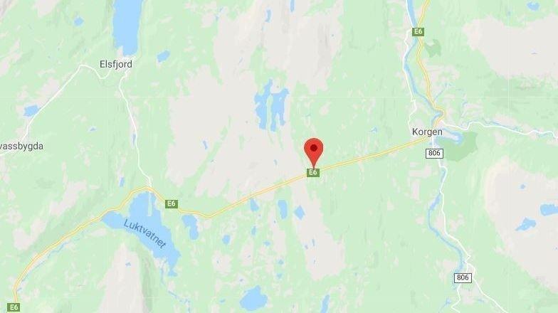 OMKOM: En mann omkom etter en ulykke i Korgfjelltunnelen.