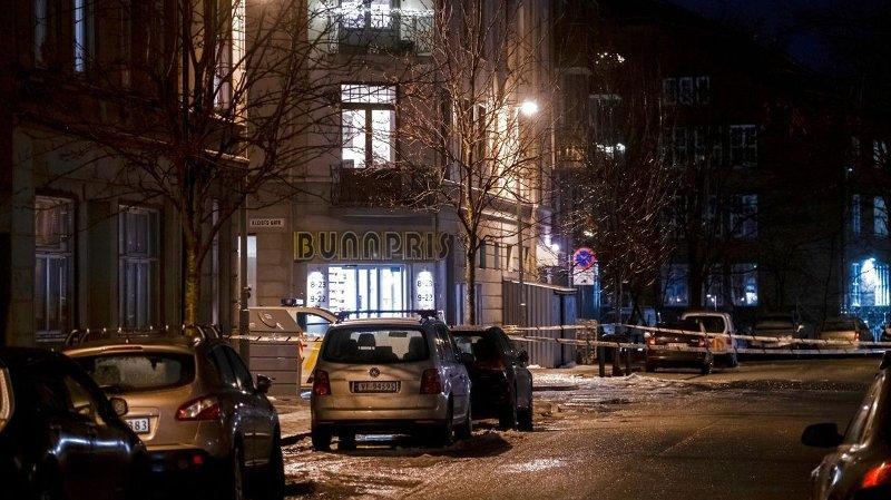 SKUTT: En mann ble skutt i Trondheim sentrum torsdag kveld.