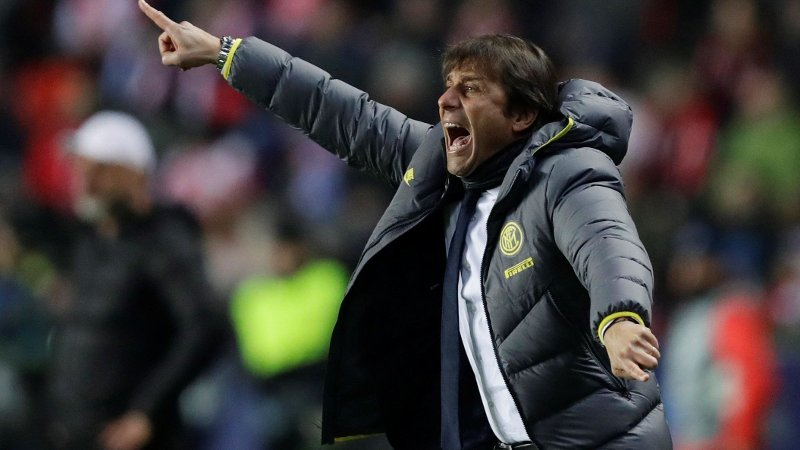 Soccer Football - Champions League - Group F - SK Slavia Prague v Inter Milan - Eden Arena, Prague, Czech Republic - November 27, 2019 Inter Milan coach Antonio Conte REUTERS/David W Cerny