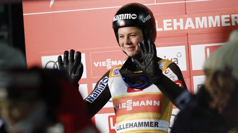 Lillehammer 20191206. Maren Lundby i forbindelse med kvalifiseringen foran damenes hoppkonkurranse under verdenscuphelgen på Lillehammer.