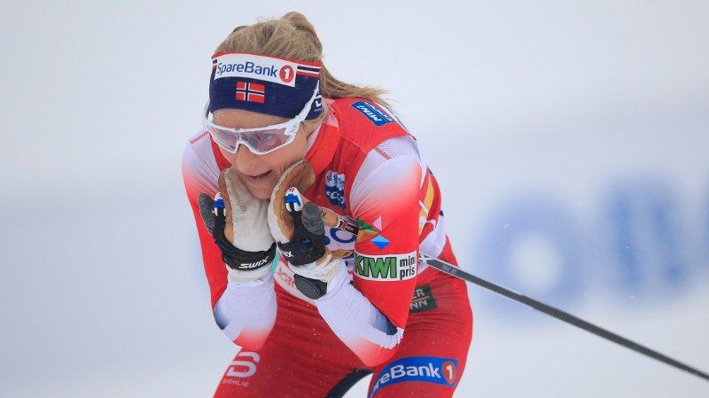 DOMINERTE: Therese Johaug var ustoppelig på kvinnenes stafett søndag formiddag.