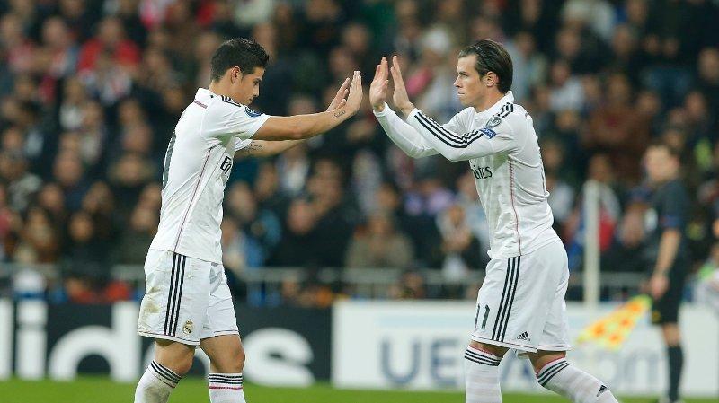 USIKKER FREMTID: James Rodriguez og Gareth Bale kan forlate Real Madrid etter sesongen.