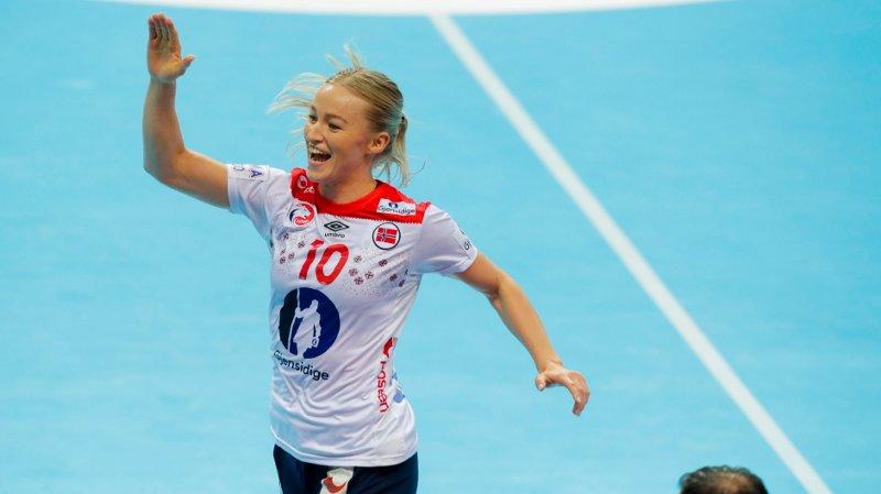 Kumamoto, Japan 20191209. Stine Bredal Oftedal under VM kampen mellom Sør-Korea og Norge.