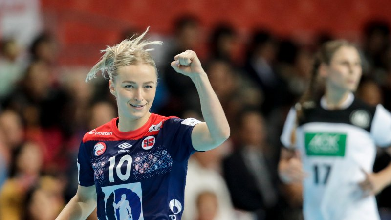 Kumamoto, Japan 20191211. Stine Bredal Oftedal under kampen mellom Norge og Tyskland.