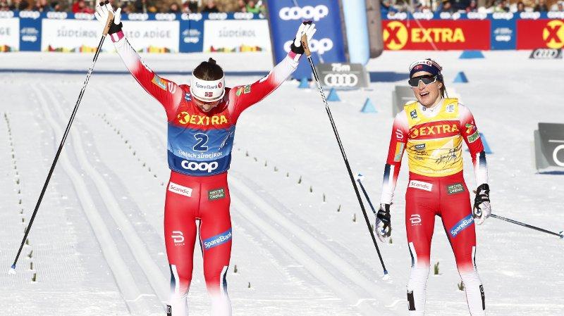NORSK DUELL: Ingvild Flugstad Østberg og Therese Johaug duellerte på dagens jaktstart i Tour de Ski.
