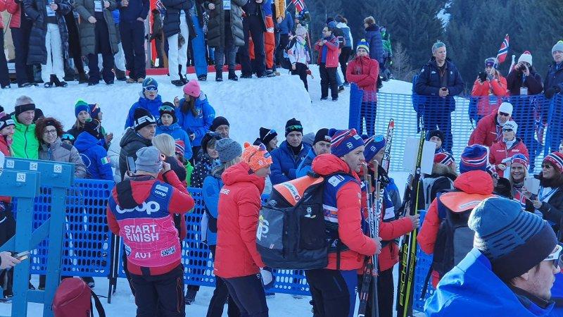 UVELL: Astrid Uhrenholdt Jacobsen var ikke i toppslag etter å ha gått opp monsterbakken i Tour de Ski.