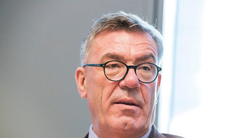Styreleder Stein Erik Hagen i Orkla avbildet på NHOs årskonferanse i 2018.