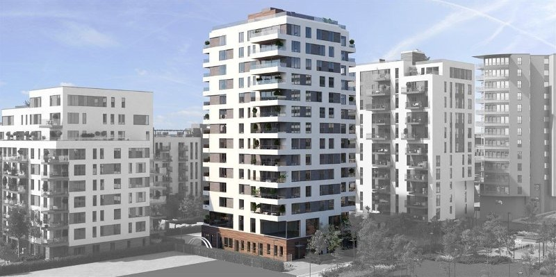 DET HØYESTE BYGGET: Hus C i Obos-prosjektet Middelthunet på Majorstua blir på 14 etasjer. Ingen av leilighetene koster under 100.000 kroner kvadratmeteren.