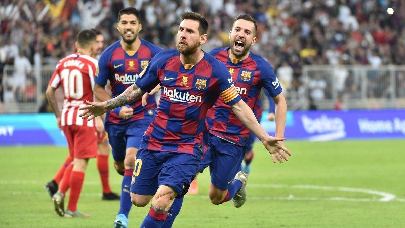 PENGEMASKINER: Lionel Messi og de andre Barcelona-stjernene.